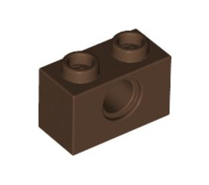 LEGO Brown Technic Brick 1 x 2 with Hole (3700)