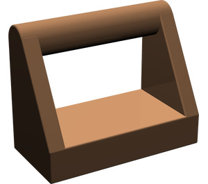 LEGO Brown Tile 1 x 2 with Handle (2432)