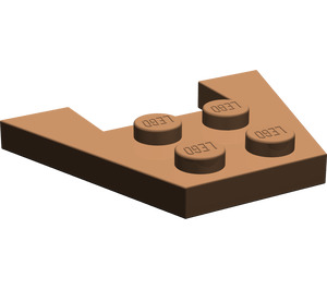 LEGO Brown Wedge Plate 3 x 4 without Stud Notches (4859)