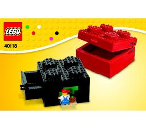 LEGO Buildable Brick Box 2x2 Set 40118 Instructions