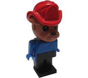 LEGO Bully Bulldog with Fire Helmet Fabuland Figure