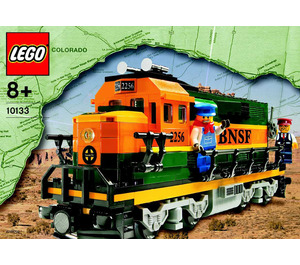 LEGO Burlington Northern Santa Fe (BNSF) Locomotive Set 10133 Instructions