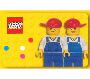 LEGO Business Card with 2 Minifigs on Back