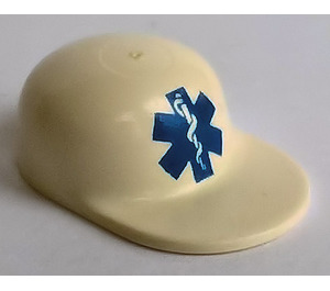 LEGO Cap with Blue EMT Star of Life logo with Long Flat Bill (4485)
