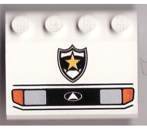 LEGO Car Mudguard 3 x 4 with Headlights and Police Badge Decoration (2513)