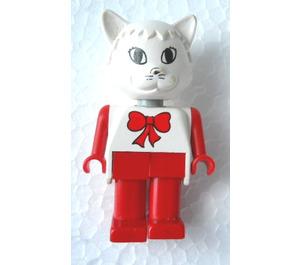 LEGO Catherine Cat with Red Bow Fabuland Figure