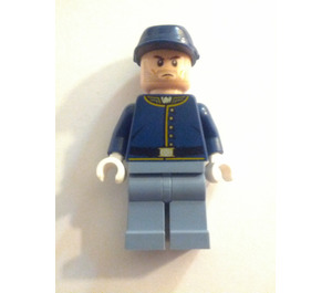 LEGO Cavalry Soldier Brown Eyebrows and stubble Lone Ranger Minifigure