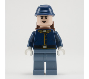 LEGO Cavalry Soldier with Backpack and Black Eyebrows Minifigure