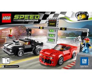LEGO Chevrolet Camaro Drag Race Set 75874 Instructions