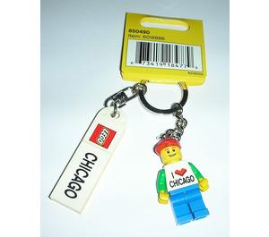 LEGO Chicago minifig keychain (850490)
