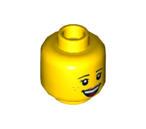 LEGO Child with Bright Pink Top Plain Head (Recessed Solid Stud) (3626 / 21463)