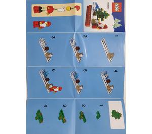 LEGO Christmas Scene Magnet (853353) Instructions
