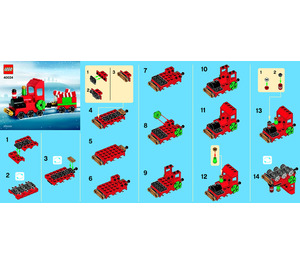 LEGO Christmas Train Set 40034 Instructions
