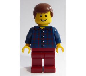 LEGO Christmas Tree Man with Plaid Shirt Minifigure