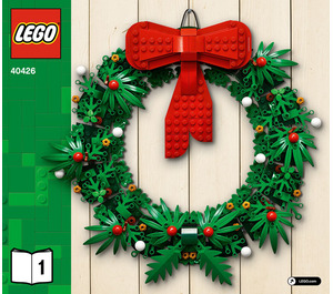 LEGO Christmas Wreath 2-in-1 Set 40426 Instructions