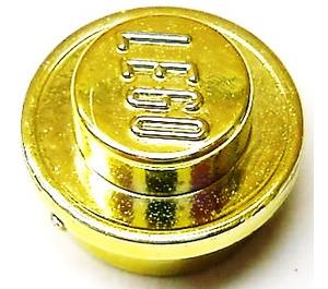 LEGO Chrome Gold Round Plate 1 x 1