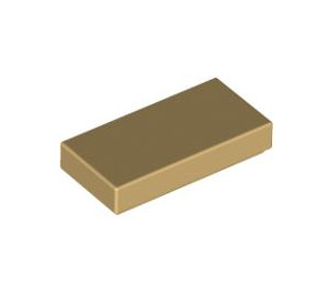 LEGO Chrome Gold Tile 1 x 2 with Groove (45880)