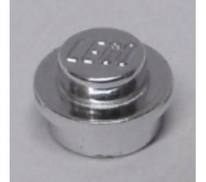 LEGO Chrome Silver Plate 1 x 1 Round (44325)