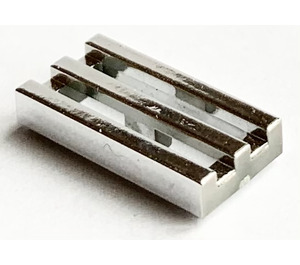 LEGO Chrome Silver Tile 1 x 2 Grille (with Bottom Groove) (71957)