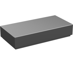 LEGO Chrome Silver Tile 1 x 2 with Groove (3069)