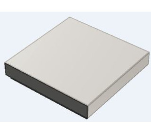 LEGO Chrome Silver Tile 2 x 2 with Groove (3068)