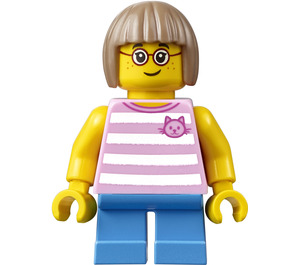 LEGO City People Pack Girl with Red Glasses Minifigure