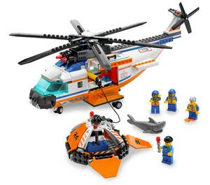 LEGO Coast Guard Helicopter & Life Raft Set 7738
