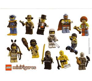 LEGO Collectible Minifigures Series 1 Stickersheet