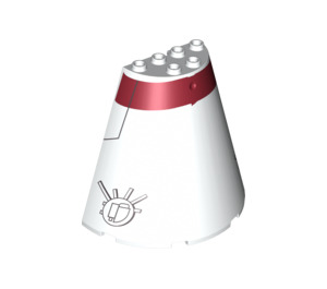 LEGO Cone 8 x 4 x 6 Half with Decoration (87412 / 93799)