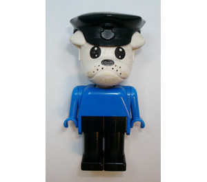LEGO Constable Clarke Bulldog with Police Hat Fabuland Figure