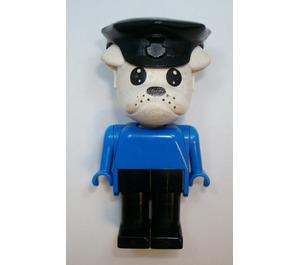 LEGO Constable Clarke Bulldog with Police Hat Fabuland Minifigure