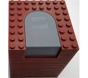 LEGO Container Box 8 x 8 x 8 with Dark Stone Switching Mechanism