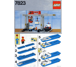 LEGO Container Crane Depot Set 7823 Instructions