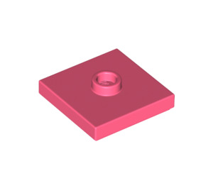 LEGO Coral Plate 2 x 2 with Groove and 1 Center Stud (23893)