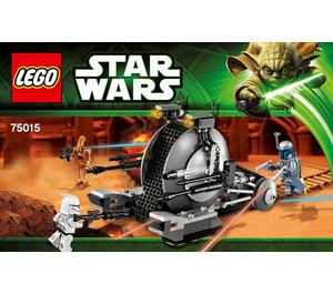 LEGO Corporate Alliance Tank Droid Set 75015 Instructions