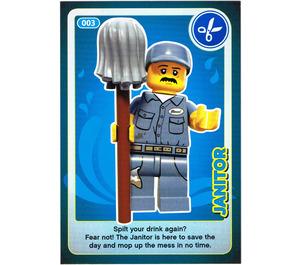 LEGO Create the World Card 003 - Janitor
