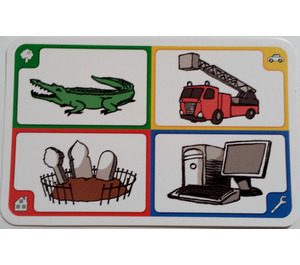 LEGO Creationary Game Card with Crocodile