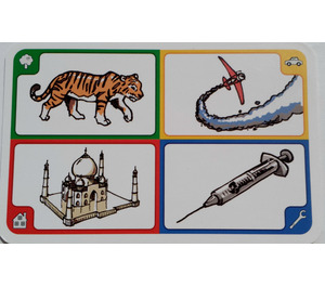 LEGO Creationary Game Card with Tiger