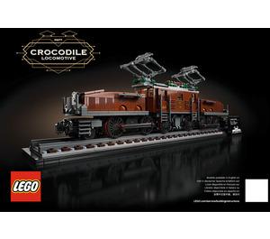 LEGO Crocodile Locomotive Set 10277 Instructions