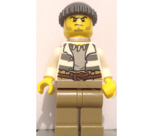 LEGO Crook with back sack, open shirt and rope belt Minifigure