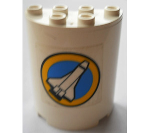 LEGO Cylinder 2 x 4 x 4 with Sticker from Set 6454 (6218)