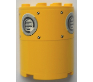 LEGO Cylinder 2 x 4 x 4 with Vent Holes Sticker (6218)