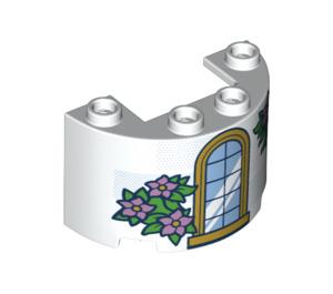 LEGO Cylinder Half 2 x 4 x 2 with Cutout with Arch window (24593 / 66672)