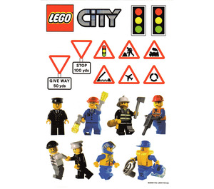 LEGO Daily Mirror City Sticker Sheet