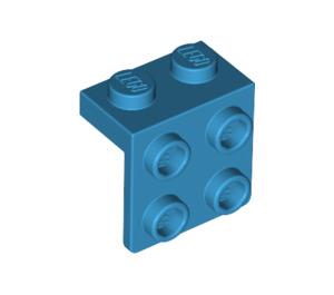 LEGO Dark Azure Bracket 1 x 2 - 2 x 2 (21712)