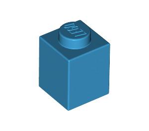LEGO Dark Azure Brick 1 x 1 (3005)