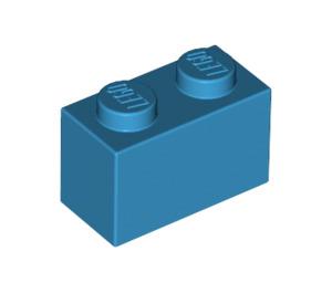 LEGO Dark Azure Brick 1 x 2 (3004)