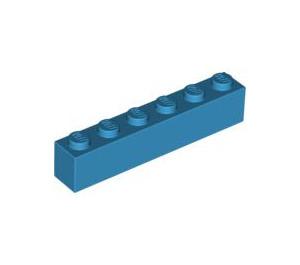 LEGO Dark Azure Brick 1 x 6 (3009)