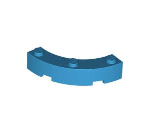 LEGO Dark Azure Brick Corner 4 x 4 (Wide with 3 Studs) (48092)