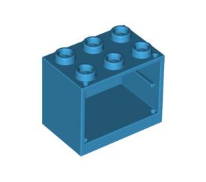 LEGO Dark Azure Cupboard 2 x 3 x 2 with Recessed Studs (92410)